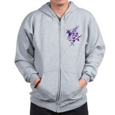 White Rabbit Herald Purple Zip Hoodie