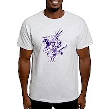 White Rabbit Herald Purple T-Shirt