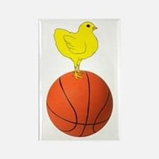 Basketball Chick Rectangle Magnet