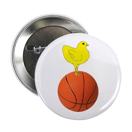 """Basketball Chick 2.25"""" Button (10 pack)"""