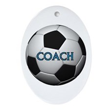 GOOD COACHES WIN GAMES Ornament (Oval)