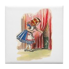 Alice FInds a Door Tile Coaster