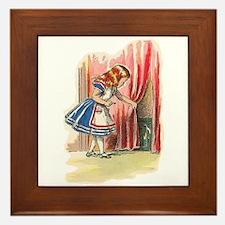 Alice FInds a Door Framed Tile