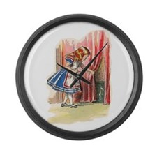 Alice FInds a Door Large Wall Clock