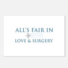 All's Fair in Love and Surgery Postcards (Pac
