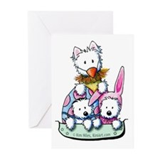 Easter Westie Pocket Posers Greeting Cards (Pk of