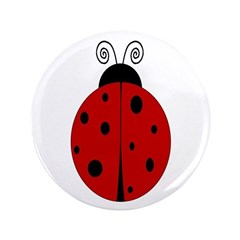 """Ladybug - Personalized with 3.5"""" Button"""