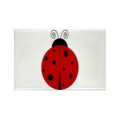 Ladybug - Personalized with Rectangle Magnet
