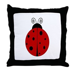 Ladybug - Personalized with Throw Pillow