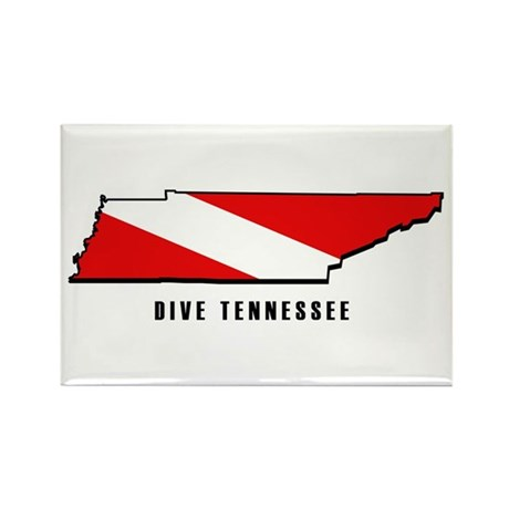 Tennessee State Dive Flag Rectangle Magnet (100 pa