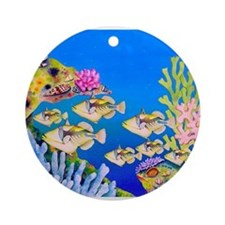 Tropical Paradise Art Ornament (Round)