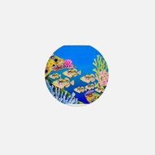 Tropical Paradise Art Mini Button