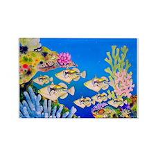 Tropical Paradise Art Rectangle Magnet