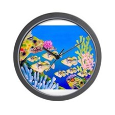 Tropical Paradise Art Wall Clock