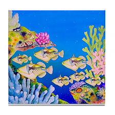 Tropical Paradise Art Tile Coaster
