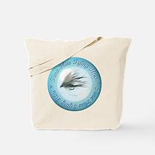 Time Flies Tying Flies Tote Bag
