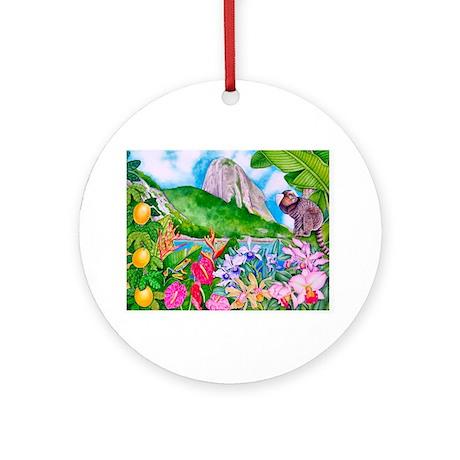 Tropical Paradise Art Ornament (Round)