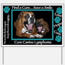 Cute Canine cancer Yard Sign