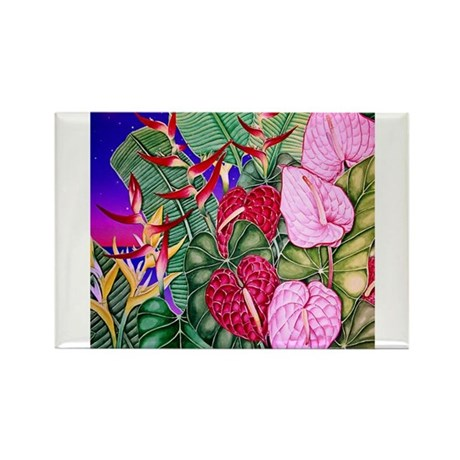 Tropical Paradise Art Rectangle Magnet (100 pack)