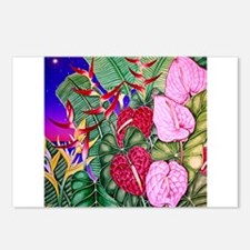Tropical Paradise Art Postcards (Package of 8)