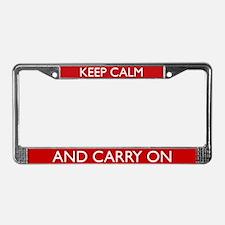 Crimson Red License Plate Frame