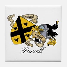 Purcell Coat of Arms / Crest Tile Coaster