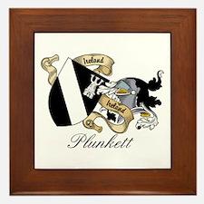 Plunkett Coat of Arms / Crest Framed Tile