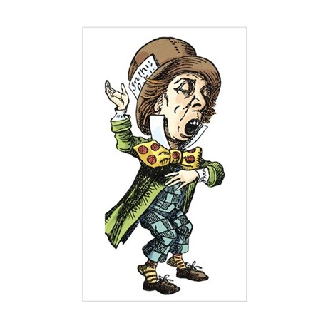 The Mad Hatter Sticker (Rectangle)