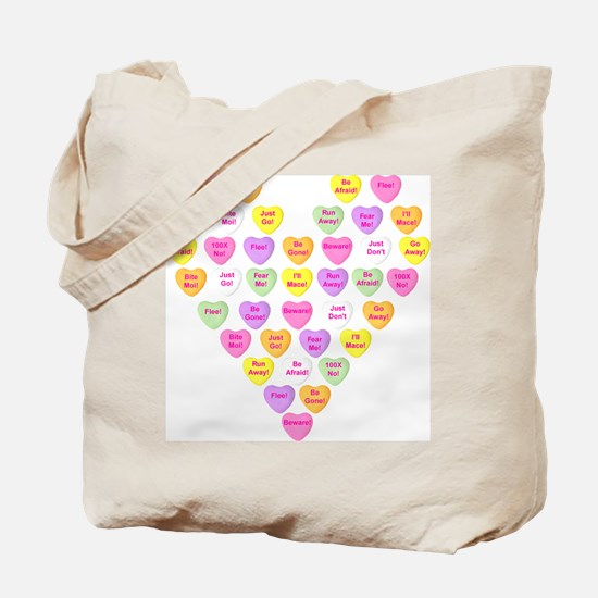 Curmugeon Candy Hearts<br> Tote Bag