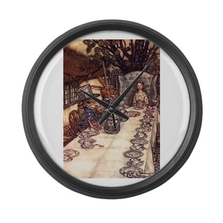 The Tea Party Large Wall Clock
