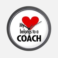 Heart belongs, coach Wall Clock