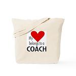 Heart belongs, coach Tote Bag