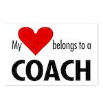 Heart belongs, coach Postcards (Package of 8)