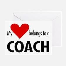 Heart belongs, coach Greeting Cards (Pk of 10)