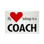 Heart belongs, coach Rectangle Magnet (100 pack)