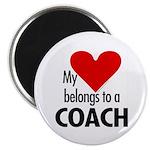 Heart belongs, coach Magnet