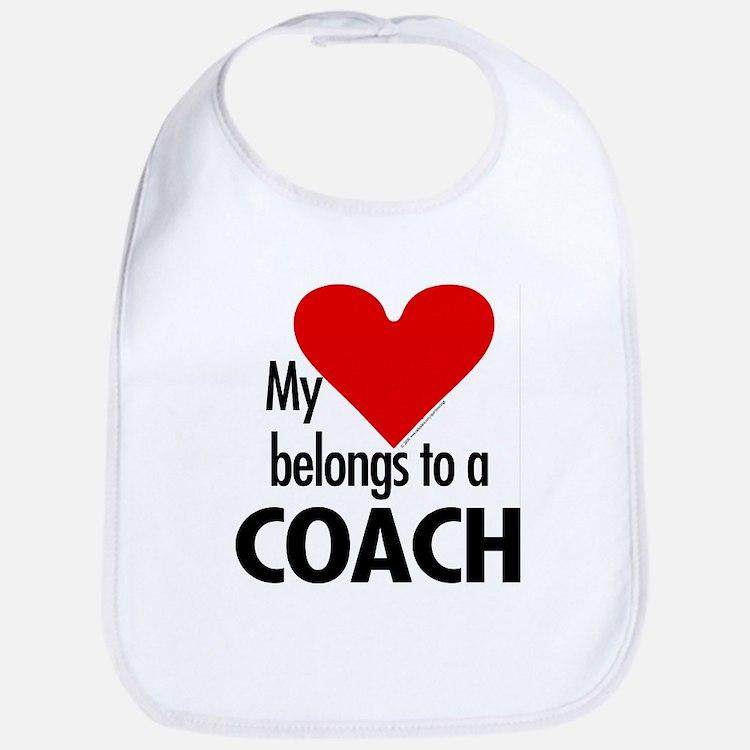 Heart belongs, coach Bib