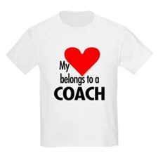 Heart belongs, coach Kids T-Shirt
