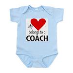 Heart belongs, coach Infant Creeper