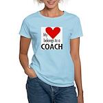 Heart belongs, coach Women's Pink T-Shirt