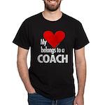 Heart belongs, coach Black T-Shirt