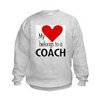 Heart belongs, coach Kids Sweatshirt