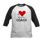 Heart belongs, coach Kids Baseball Jersey