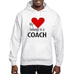 Heart belongs, coach Hooded Sweatshirt
