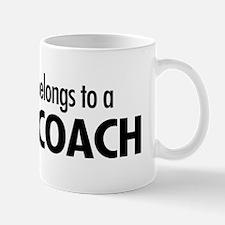 Heart belongs, coach Mug