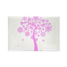 Winter Snowflake Tree Rectangle Magnet (100 pack)
