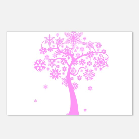 Winter Snowflake Tree Postcards (Package of 8)