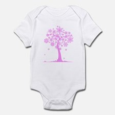 Winter Snowflake Tree Infant Bodysuit