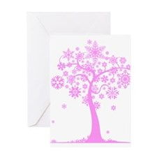 Winter Snowflake Tree Greeting Card