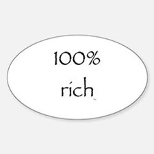 100% Rich Oval Decal
